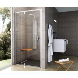Sprchové dveře Ravak Pivot jednokřídlé 110 cm, čiré sklo, bílý profil 03GD0101Z1