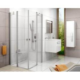 Sprchové dveře Ravak Chrome jednokřídlé 100 cm, čiré sklo, satin profil 1QVA0U00Z1