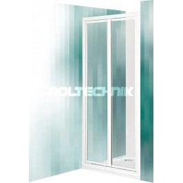 Sprchové dveře Roltechnik Classic dvoukřídlé 80 cm, neprůhledné sklo, satin profil CDO2800CHS