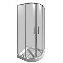 Sprchový kout Jika Lyra plus čtvrtkruh 80 cm, R 550, čiré sklo, bílý profil H2533810006681