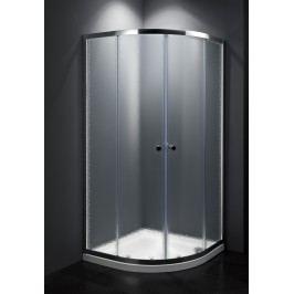 Sprchový kout Multi Basic čtvrtkruh 90 cm, R 550, neprůhledné sklo, chrom profil, univerzální SIKOMUS90CRCH