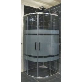 Sprchový kout Anima TEX čtvrtkruh 80 cm, R 550, sklo stripe, chrom profil, univerzální SIKOTEXS80CRS