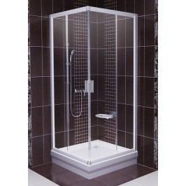 Sprchový kout Ravak Serie 200 čtverec 90 cm, čiré sklo, satin profil 1LV70U00Z1