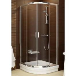 Sprchový kout Ravak Serie 200 čtvrtkruh 80 cm, neprůhledné sklo, bílý profil 3B240100ZG