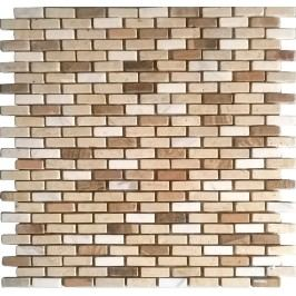 Premium Mosaic Stone Kamenná mozaika krém.-bílé cihly 1/3 STMOS1030MIX1