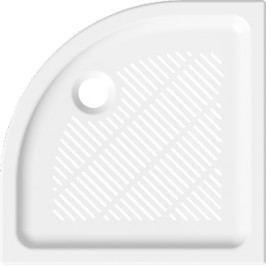 Sprchová vanička čtvrtkruhová Jika 80x80 cm, R 550, keramika H8527230000003