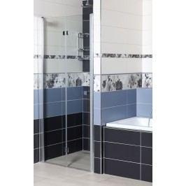Sprchové dveře Anima SK skládací 80 cm, čiré sklo, chrom profil, univerzální SIKOSK80