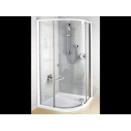 Sprchový kout Ravak Serie 300 čtvrtkruh 80 cm, čiré sklo, bílý profil 37644100Z1