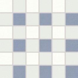 Mozaika Rako Tendence bílomodrá 30x30 cm, pololesk WDM06154.1