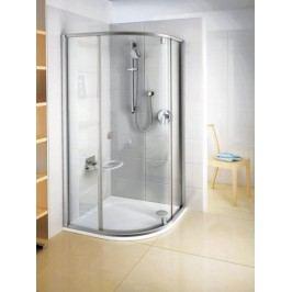 Sprchový kout Ravak Serie 300 čtvrtkruh 100 cm, čiré sklo, satin profil 376AAU00Z1
