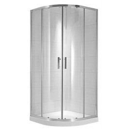 Sprchový kout Jika čtvrtkruh 90 cm, čiré sklo, chrom profil H2532420026681