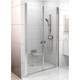 Sprchové dveře Ravak Chrome dvoukřídlé 120 cm, čiré sklo, chrom profil 0QVGCC0LZ1