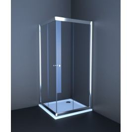 Sprchový kout Anima T-Pro čtverec 80 cm, čiré sklo, chrom profil TPLNEW80CRT