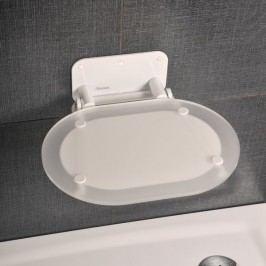Ravak Sprchové sedátko OVO Chrome Clear White B8F0000028