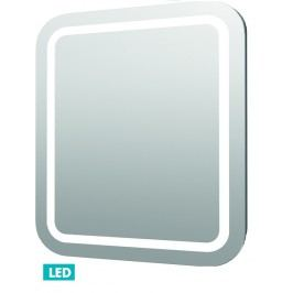 Naturel Zrcadlo s osvětlením led Iluxit 80x70 cm IP44, s vyhřívanou fólií a senzorem ZIL8070KTLEDS