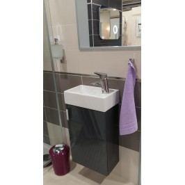 Skříňka s umývátkem Jika LITT 40 cm 39 cm, šedá, univerzální otevírání H4535111753011