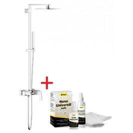 Sprchový systém Grohe s pákovou baterií, 1 funkce, hranatý design SIKOBGSSPB