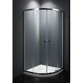 Sprchový kout Multi Basic čtvrtkruh 80 cm, R 550, čiré sklo, chrom profil, univerzální SIKOMUS80CRT