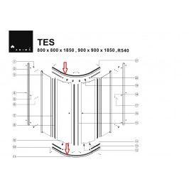 Anima DOPRODEJ Vodící profil bílý k TES90, 1ks NDTES7900