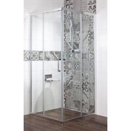 Sprchový kout Anima TEX čtverec 80 cm, čiré sklo, chrom profil, univerzální SIKOTEXQ80CRT