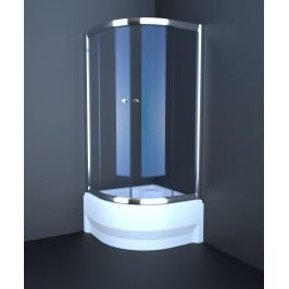 Sprchový kout Anima T-Pro čtvrtkruh 90 cm, R 550, neprůhledné sklo, chrom profil TPSNEW90ROCRG