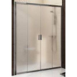 Sprchové dveře Ravak Blix posuvné 140 cm, neprůhledné sklo, satin profil