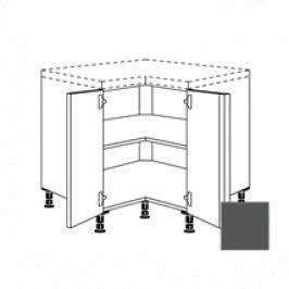 TERRY24 Kuchyňská skříňka spodní rohová 90 cm 2D, břidlicově šedá 334.UDTE90.L