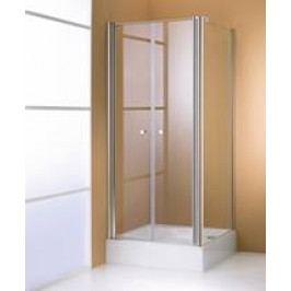 Boční stěna Huppe 501 Design pevná 70 cm, sklo proužky, satin profil 510784.087.373