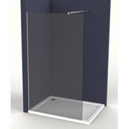 Pevná stěna Anima Walk-in 80 cm, kouřové sklo, chrom profil WI80KS
