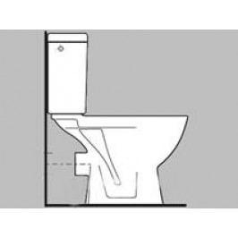 Stojící WC Jika Lyra plus, zadní odpad H8243860000001