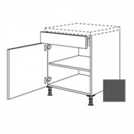 TERRY24 Kuchyňská skříňka spodní 60cm1Z+1D L,břidlicově šedá 334.US60.L