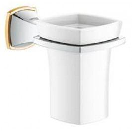 Držák skleniček Grohe Grandera chrom/zlatá 40626IG0
