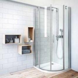 Sprchový kout Roltechnik čtvrtkruh 90 cm, univerzální 738-9000000-00-02