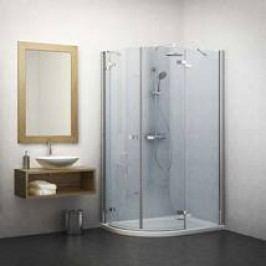 Sprchový kout Roltechnik asymetrický 80 cm, univerzální 131-120080P-00-02