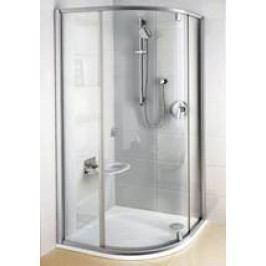 Sprchový kout Ravak čtvrtkruh 100 cm, čiré sklo, bílý profil 376AA100Z1