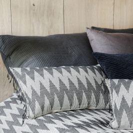 House Doctor Povlak na polštář Totem 40x60, šedá barva, černá barva, bílá barva, textil