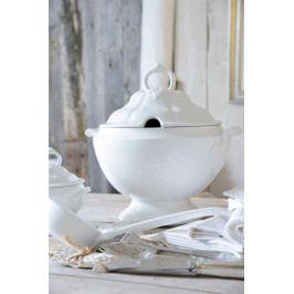 Jeanne d'Arc Living Servírovací mísa na polévku Tureen White 3L, bílá barva, porcelán