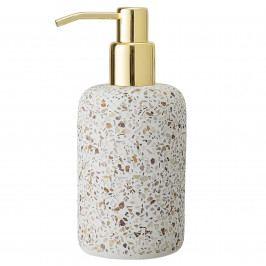 Bloomingville Zásobník na tekuté mýdlo Terrazzo, oranžová barva, béžová barva, hnědá barva, multi barva, zlatá barva, kámen
