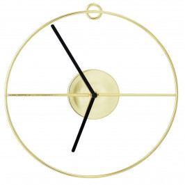 Bloomingville Nástěnné hodiny Gold Circle, zlatá barva, kov