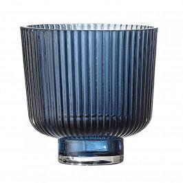 Bloomingville Svícen - Art Deco Bleu, modrá barva, sklo