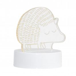 Bloomingville Dětská usínací lampička - Magic Hedgehog, bílá barva, čirá barva, plast