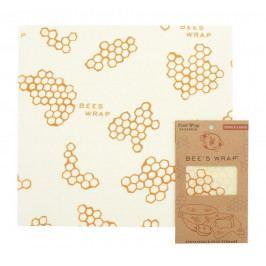Bee's Wrap Ekologický potravinový ubrousek Large, žlutá barva, textil