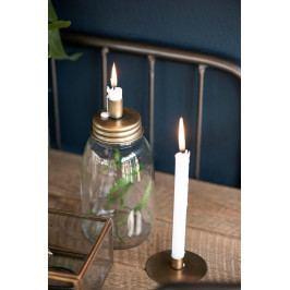 IB LAURSEN Dóza se svícnem Bottle Brass, měděná barva, čirá barva, sklo, kov