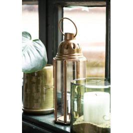 IB LAURSEN Kovová lucerna octagonal, zlatá barva, kov