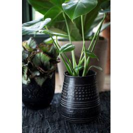 IB LAURSEN Váza Black Mystic, černá barva, kov
