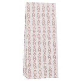 IB LAURSEN Papírový sáček Indian Flowe 30,5 cm, bílá barva, papír