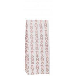 IB LAURSEN Papírový sáček Indian Flower 22,5 cm, bílá barva, papír