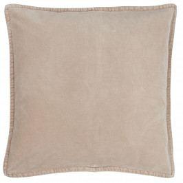 IB LAURSEN Sametový povlak na polštář Fog 50x50 cm, béžová barva, textil