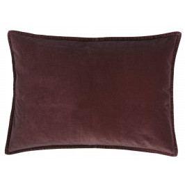 IB LAURSEN Sametový povlak na polštář Aubergine 50x70 cm, červená barva, fialová barva, textil