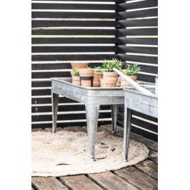 IB LAURSEN Zinkový zahradní stolek, šedá barva, zinek